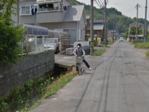 googleマップ 自転車 おばさん
